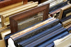 Stack of portrait frames