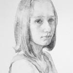 Geoffrey Hayzer 'Vickie' portrait drawing