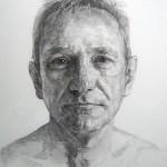 Geoffrey Hayzer 'Nick' charcoal
