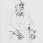 Sam Dalby 'Dr Ron Ferrari' pencil academic portrait commission