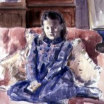Richard Foster 'Isabella', watercolour portrait of a young girl
