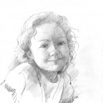 Anthony Morris 'A Drawing Of A Girl' pencil