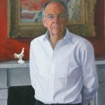David Newens 'Lord Falconer of Thoroton' 32x24ins oil portrait