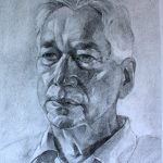 Sam Dalby 'Professor Robert Tombs' for St John's College, Cambridge charcoal