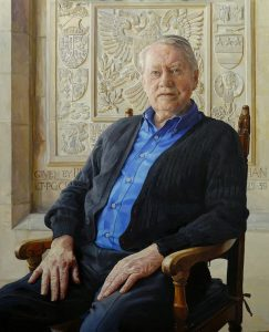 Alastair Adams 'Chuck Feeeney' a portrait from photographs taken from reference materials supplied by the client