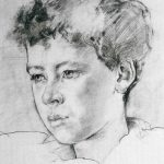 Anthony Connolly portrait drawing of a boy