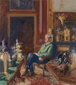 portrait prize winner Andrew Festing Portrait of Count Alexis Limburg Stirum at Walzin