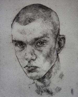 portrait prize winner Bernadett Timko, Lucas etching