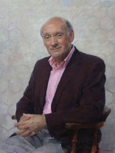 Keith Breeden, Professor Richard Carwardine FRHistS FBA FLSW, President Corpus Christie College, Oxford - top portrait painters 2017