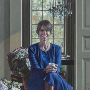 David Cobley, The Blue Dress - top portrait painters 2017