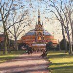 Richard Foster, Albert Memorial, oil 12 x 16