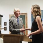 Emma Hopkins receiving The de Laszlo Foundation Award