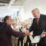 Paul Brason receiving The Burke's Peerage Foundation Award