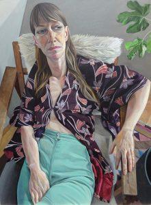 James Hague 'Mette' half length portrait