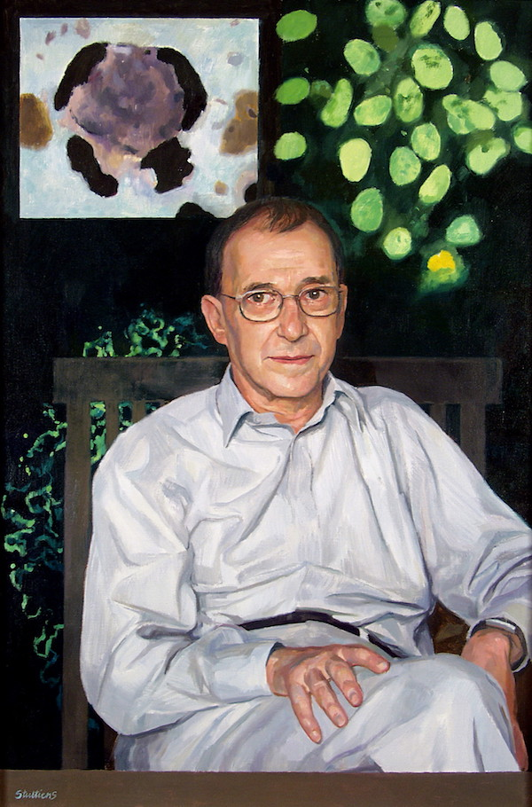 Jeff Stultiens 'Professor Sir Peter Lachmann FRS Founder President of the Academy of Medical Sciences'. 42 x 28 ins. Oil. By Courtesy of the Academy of Medical Sciences