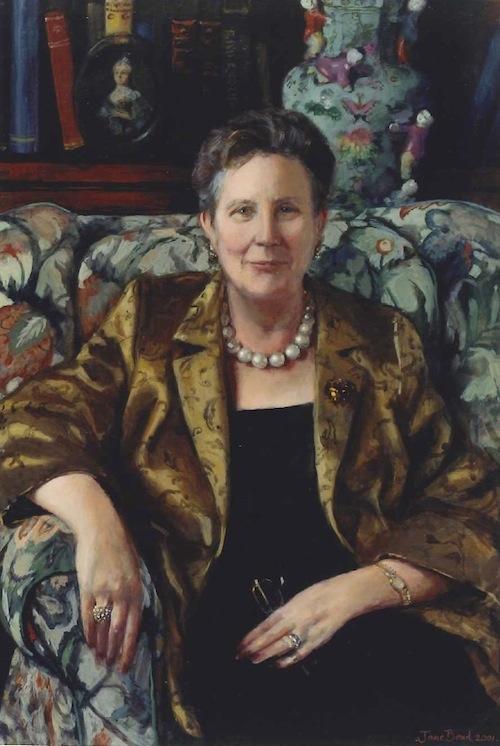 Jane Bond 'Lady Goodhart'. 27 x 39 ins. OIl