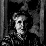 Jane Bond 'Miranda' charcoal portrait drawing