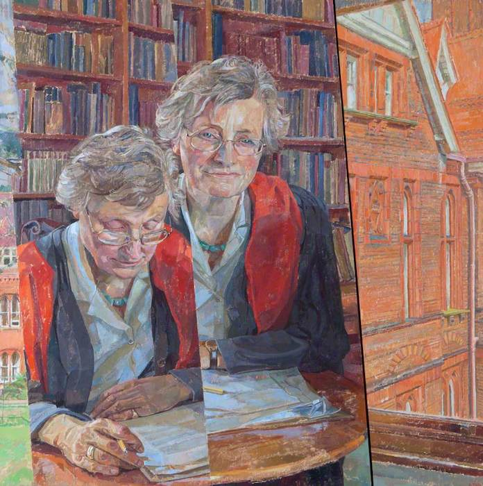 Daphne Todd, 'Professor Marilyn Strathern, FBA, Mistress of Girton' (2000). 76 x 81 cm. Oil on board.