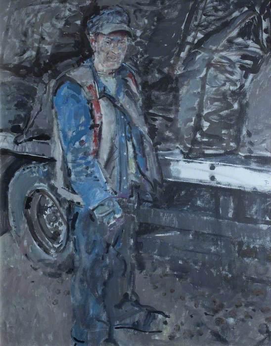 Tom Coates, 'Coal Merchant' (2000). Oil on canvas. 98 x 75 cm.