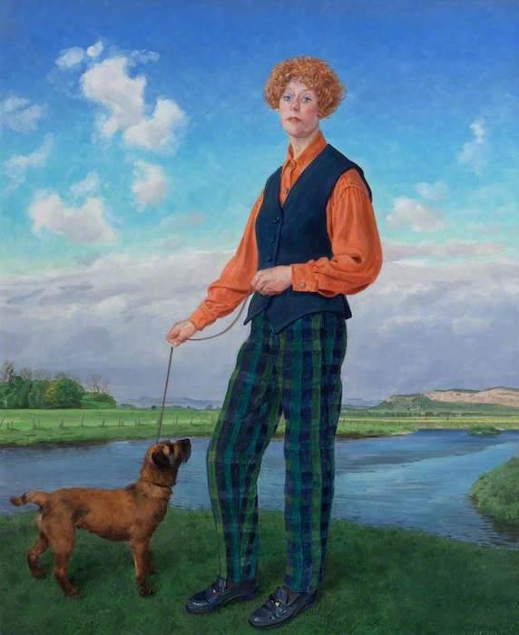 Claude Harrison, 'Julia Richardson (b.1947), Milk Tester' (2000). 59 x 49 cm. Oil on board.