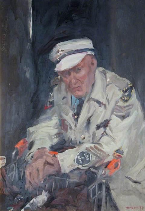 Howard Morgan, 'Arthur Gathercole, Vagrant'. (1997). 58 x 41 cm. Oil on canvas.