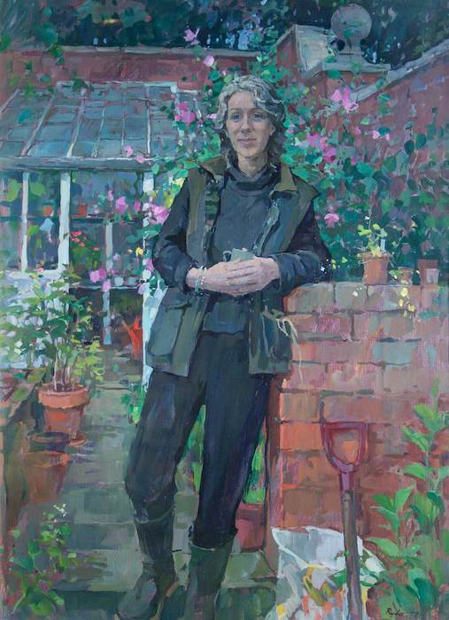 Susan Ryder, 'Susan Hewitt, Gardener' (2000). 93 x 69 cm. Oil on board.
