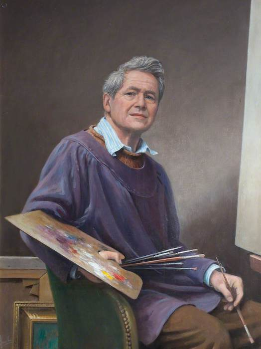 Carlos Luis Sancha, 'Carlos Luis Sancha, Portrait Painter (Self Portrait)' (2000). 89 x 68 cm. Oil on board.