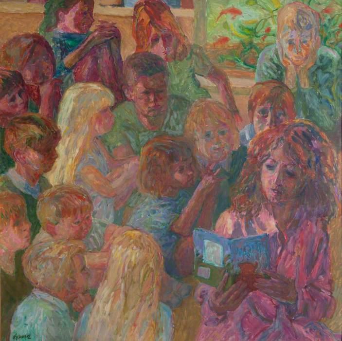 Hans Schwarz, 'Lisa Dunwood, Teacher' (2000). 119 x 119 cm. Oil on board.