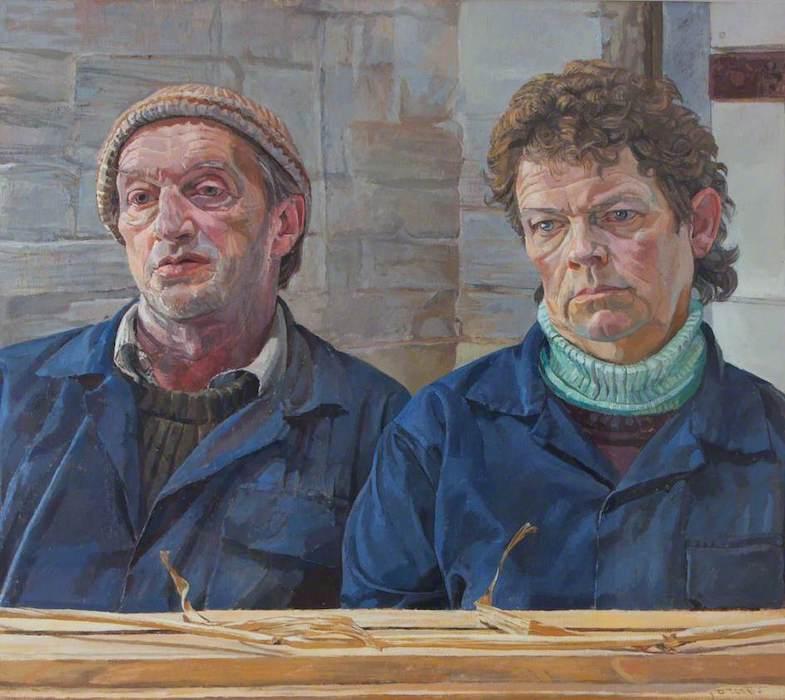 Daphne Todd, 'Robin and Lesley Monckton' (2000). 50 x 60 cm. Oil on panel.