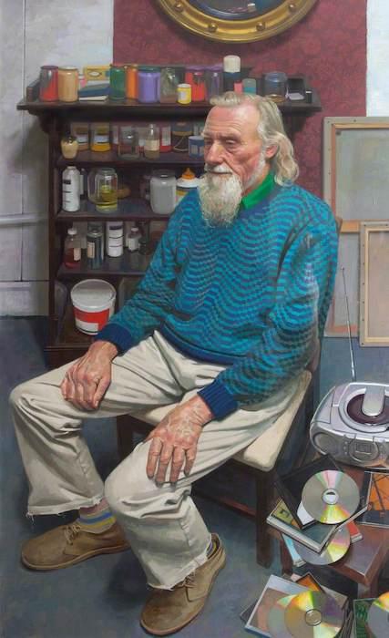 Benjamin Sullivan, 'John McWilliam' (2000). 120.5 x 69.5 cm. Oil on canvas.