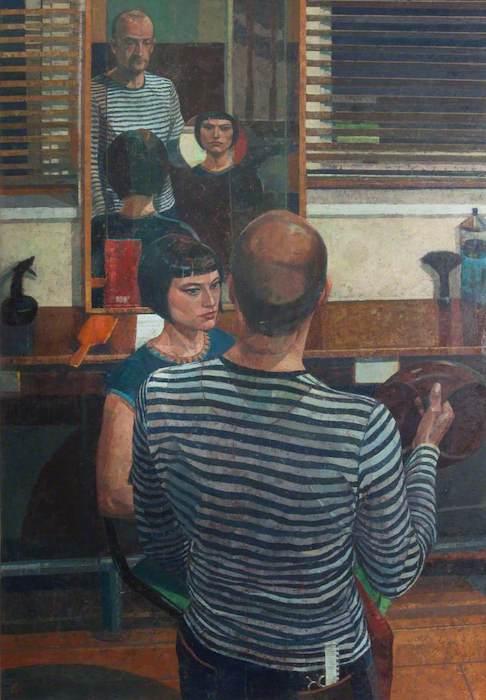 Saied Dai, 'The Hairdresser' (2000).120 x 74 cm. Oil on canvas.