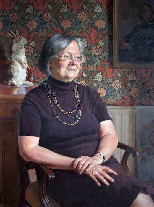 Benjamin Sullivan, 'Right Honourable Baroness Hale of Richmond, Lord of Appeal in Ordinary, Visitor of the College' (2000). 75 x 54 cm. Oil on canvas.