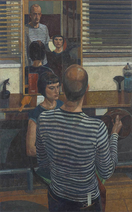 Saied Dai 'The Hairdresser' (2008). 47 x 29 ins. Oil on canvas.