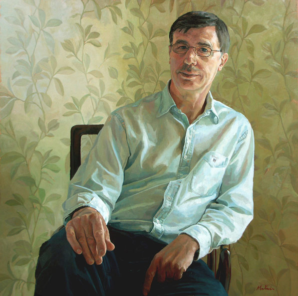 Alastair Adams 'Clive Reading'. 32 x 32 ins. Oil.