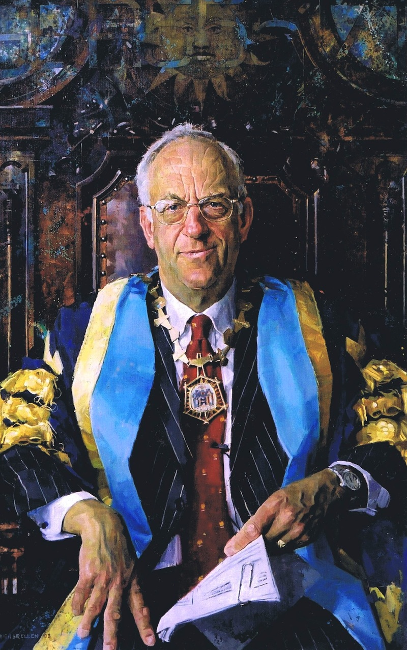 Keith Breeden 'Professor Sir John Temple, President, the Royal College of Surgeons, Edinburgh' (2003). 52 x 32 ins. Oil.