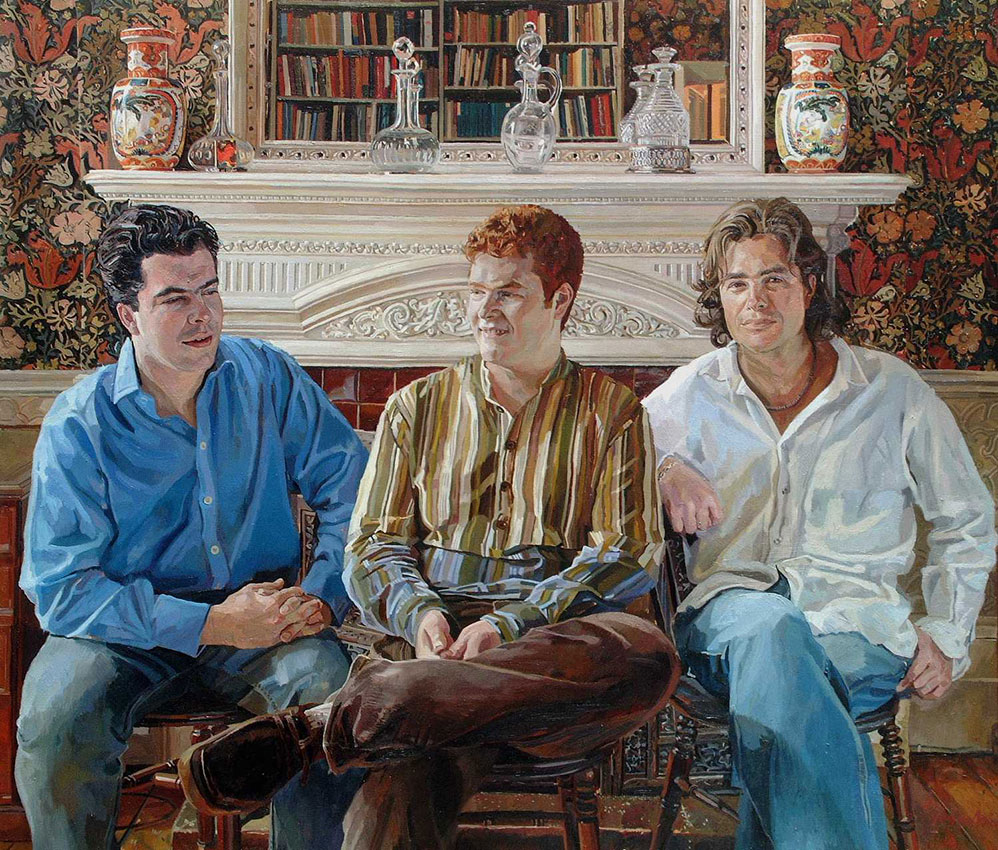 Alastair Adams 'The Goold Brothers'. 30 x 35 ins. Oil