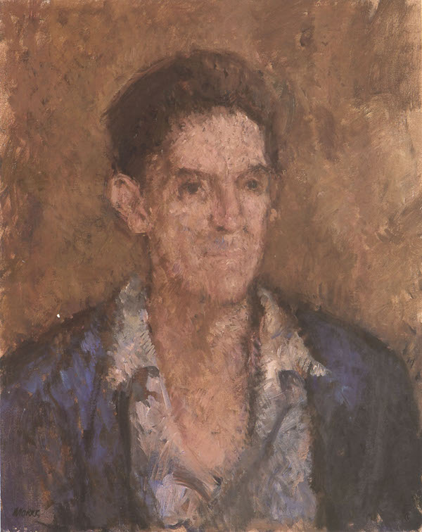 Anthony Morris 'Oxfordshire Farm Worker'. 20 x 16 ins. Oil.