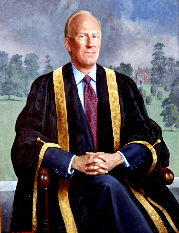 Douglas Anderson '(Julian) Ronald Haylock BSc, FRSA, President of the Council of the University of Nottingham 1996-2003' (2003). 40 x 30 ins. Oil.