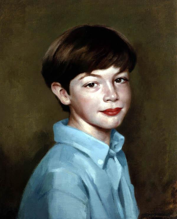 John Edwards 'Master Rory Buchanan'. 20 x 16 ins. Oil