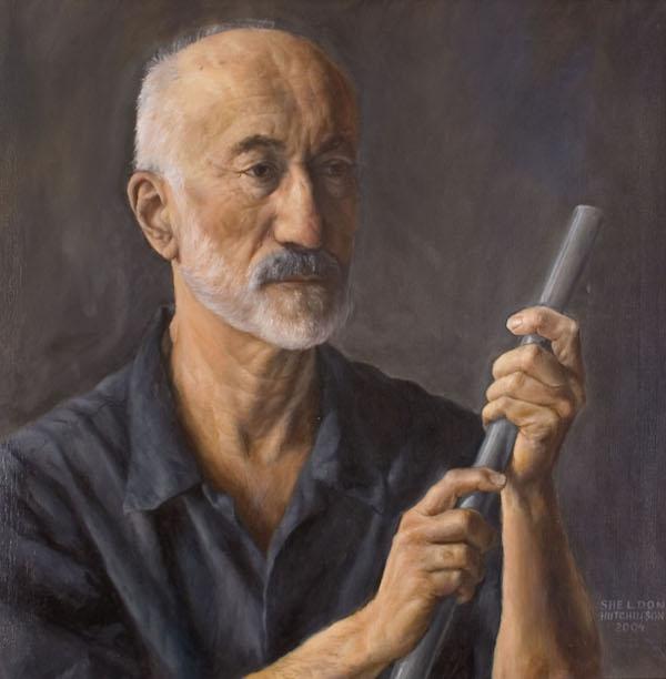 Sheldon Hutchinson 'Howard Greenham'. 31 x 31 ins. Oil.