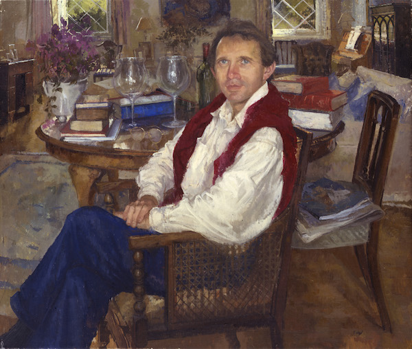 Peter Kuhfield 'Richard Porter, Obstetrician and Gynaecologist' (2002). 36 x 42 ins. Oil on Canvas