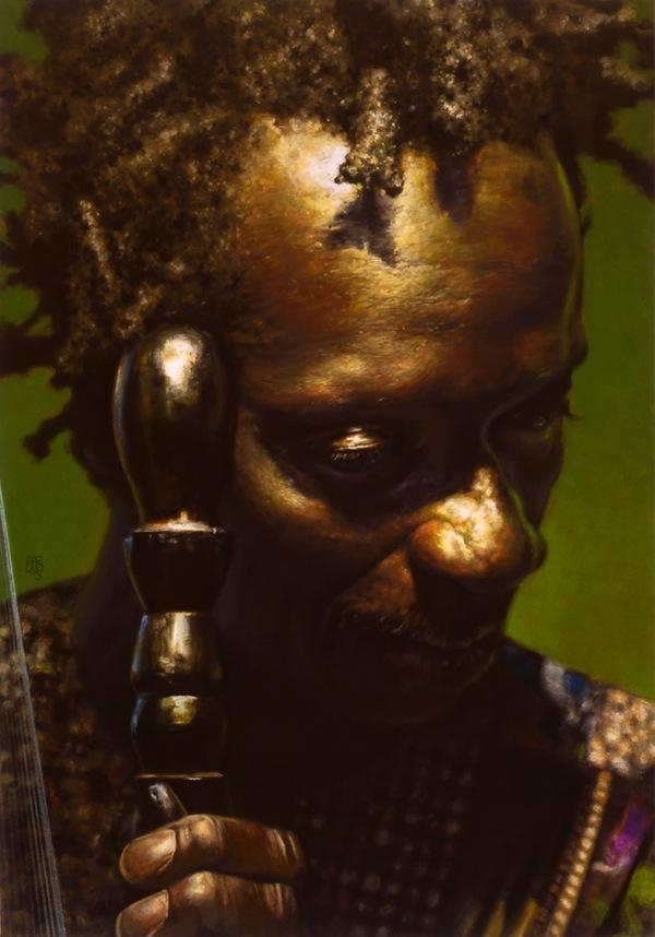 David Cobley 'Moussa'. 40 x 30. Oil on Linen.