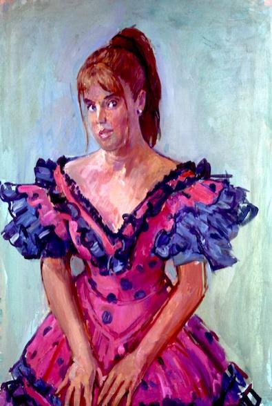 David Graham 'Maria Rosa'. 36 x 28 ins. Oil.