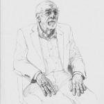 Sam Dalby 'Dr Ron Ferrari' pencil academic portrait commission