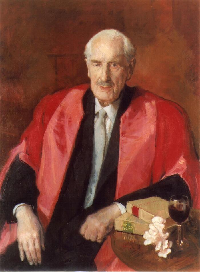 Anthony Morris 'Rt Hon. Sir Robert Megarry'. 40 x 30 ins. Oil