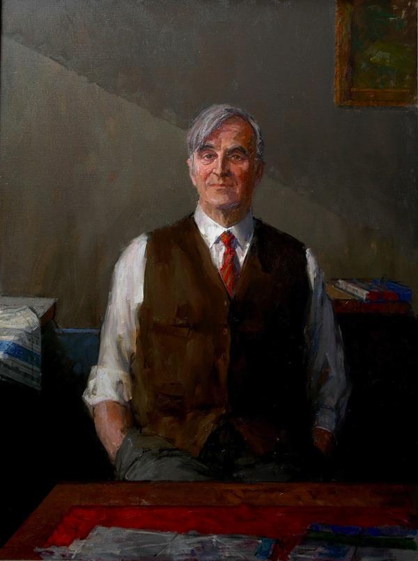 David Poole 'Sir A. M'. 48 x 36 ins. Oil.