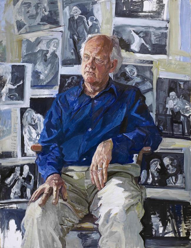John Wonnacott 'Oliver Ford Davis thinking of Lear' (2004). 60 x 48 ins. Oil.