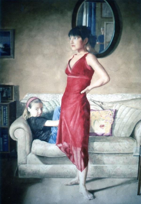 Jason Sullivan 'Jane and Maggie'. 55 x 40 ins. Watercolour.