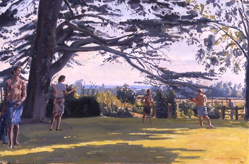 Richard Foster 'Cokesford'. 16 x 24 ins. Oil.