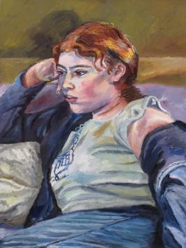 Melissa Scott-Miller 'Cordelia'. 24 x 20 ins. Oil.